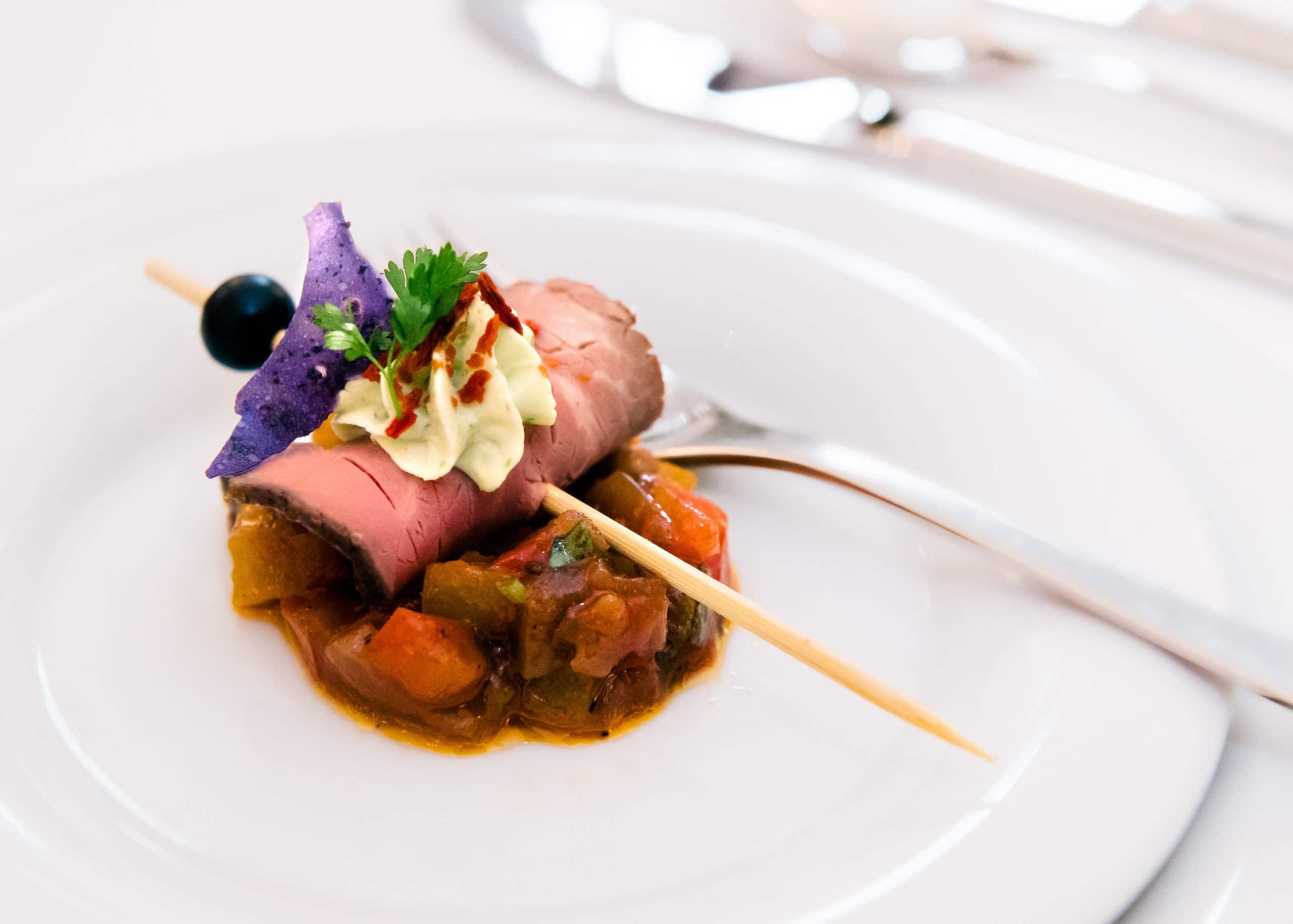 Food Fotografie eines Gruß aus der Küche in einem Sterne Restaurant | Fotograf in der Region Osnabrück Münster Bielefeld für Foodfotografie