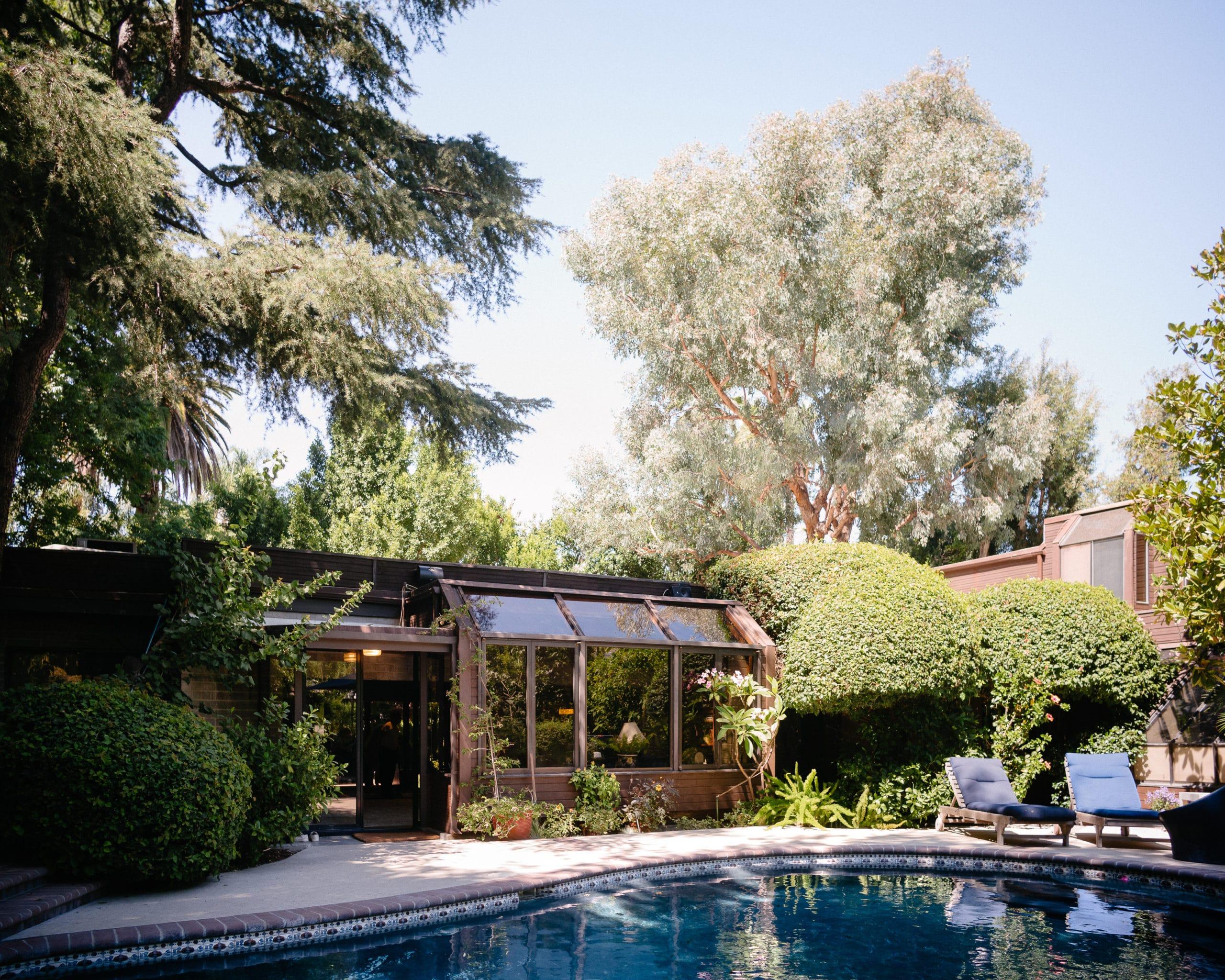 Immobilien Aufnahme eines luxuriösen Anwesens mit Pool in Los Angeles Kalifornien für ein Real Estate Expose |Fotograf in der Region Osnabrück Münster Bielefeld für Immobilienfotografie