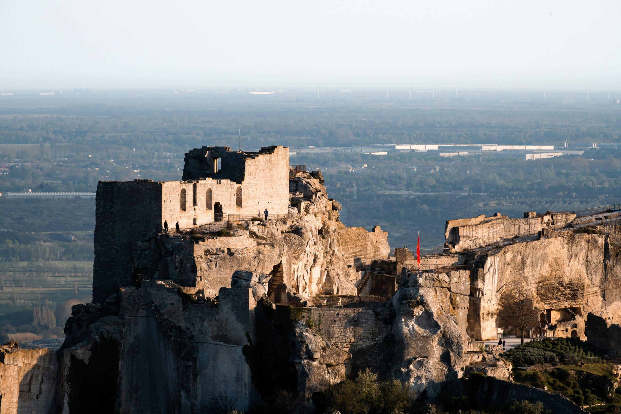 Landschaftsfoto der Burg Ruine von Les Baux de Provence Frankreich für Tourismus Marketing Zwecke |Landschaftsfotograf für Tourismusfotografie in Osnabrück Münster Bielefeld NRW Niedersachsen und bundesweit