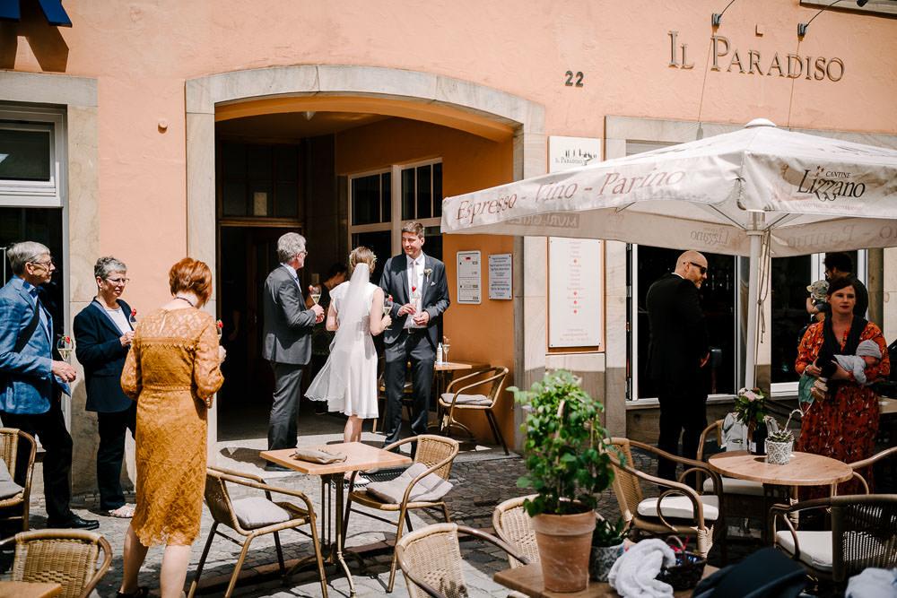 Hochzeitsfeier im italienischen Café Il Paradiso in Osnabrück (trotz Corona)