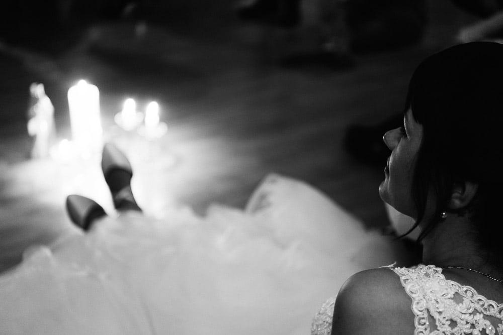 Braut im Kerzenlicht |Hochzeitsfotograf Osnabrück Münster Bielefeld